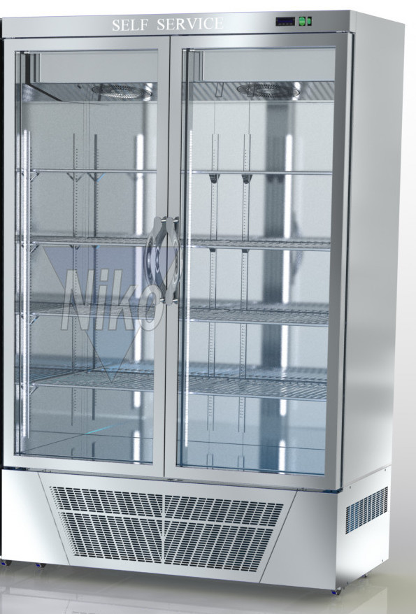 Tiefkühlschränke  Tiefkühlschrank Ausstellung mit Glastür (Umluftkühlung) x2 - Niko ...