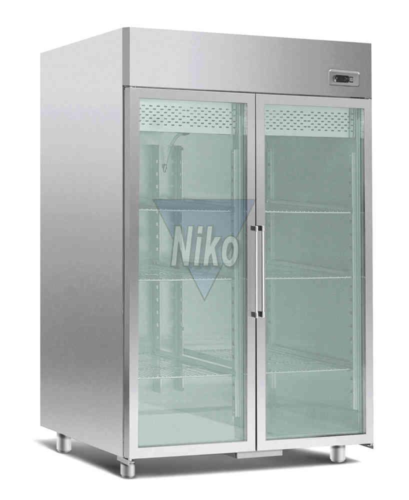 Kühlschrank Normalkühlung mit Glastüren Umluft 1400 Liter - Niko ...
