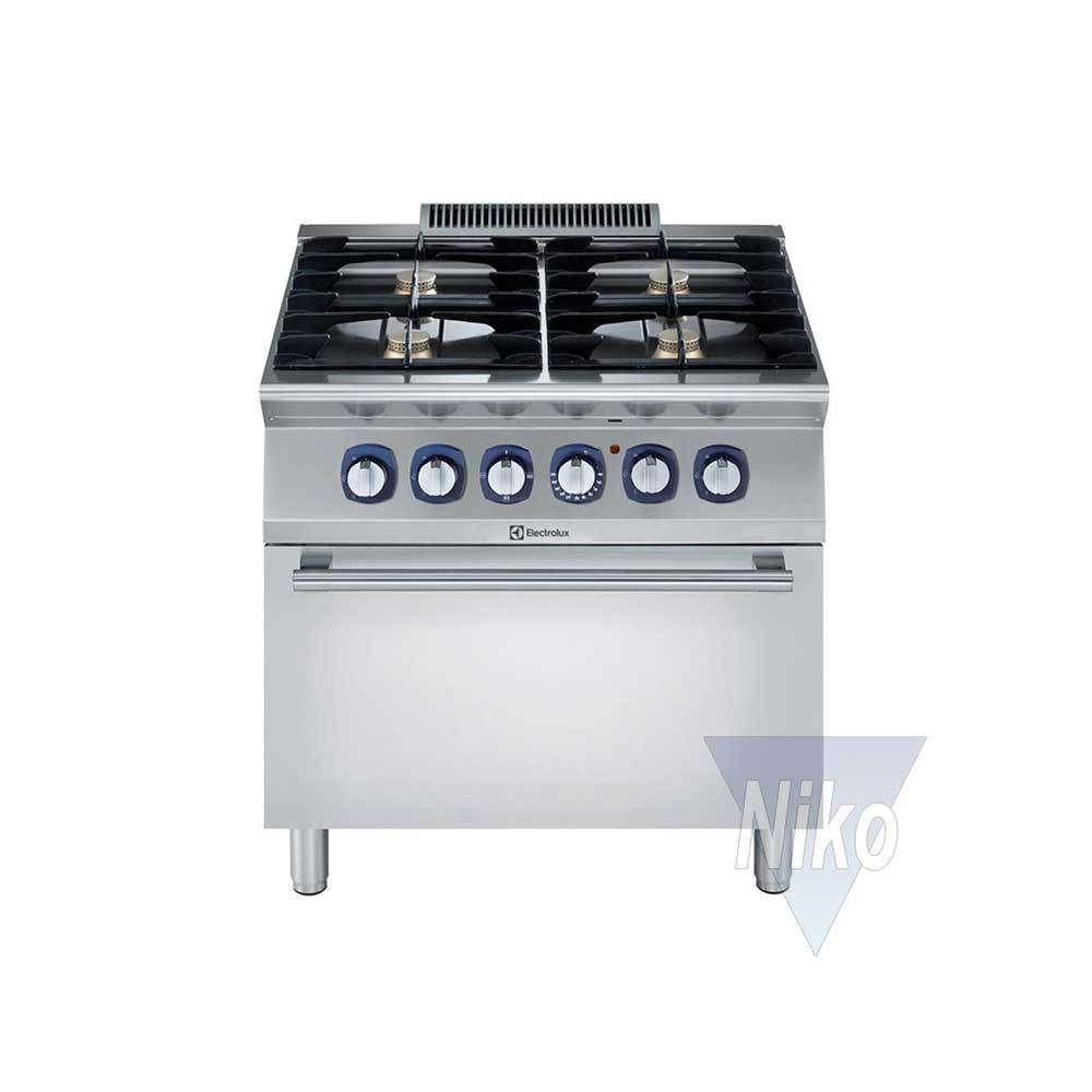 Electrolux Gasherd 4 Flammen & E-Bratofen 900XP - Niko-Großküchen